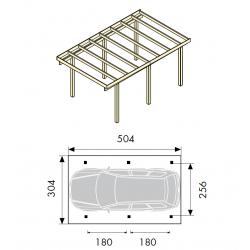 Cadre habillage pour insert à bois C130