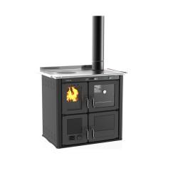Cuisinière à bois hydro Ilaria 703 T-I acier émaillé gris foncé