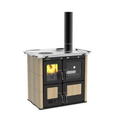 Cuisinière à bois hydro Ilaria 703 T-IL Céramique beige