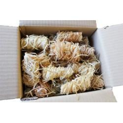 Allume feu fait main en laine de bois - sac de 50 pièces