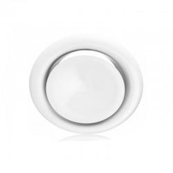Grille ventilation d'air chaud blanche - Ø 100 mm