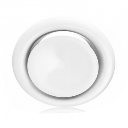 Grille ventilation d'air chaud blanche - Ø 125 mm