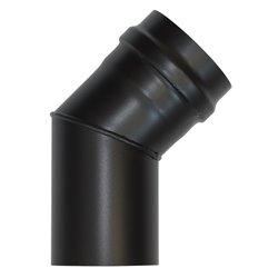 Coude à 45° noir - Diamètre 80 mm