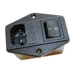 Filtre entrée de carte (porte fusible avec interrupteur) pour poêles Paterno