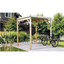Abri à vélos (Bikeport) Type 1 autoclave toit PVC
