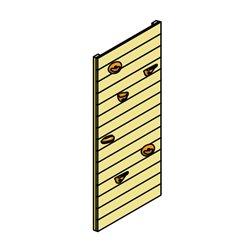Mur d'escalade pour structure de jeu Arthur