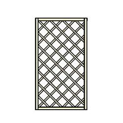 Panneau treillis bois - 100x180 cm