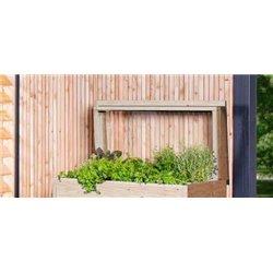 Couvercle anti froid en bois Douglas pour bac à fleurs Type 1