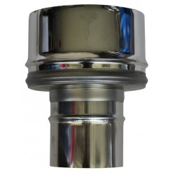Bouchon de condensation double paroi Inox - 80/130