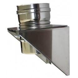 Bouchon de condensation étanche double paroi Inox - 80/130
