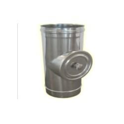 Réduction simple paroi Inox - Diamètre: 100 F-140 M